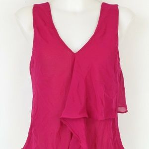 Rachel Roy Fucschia Layered Tank Size Small